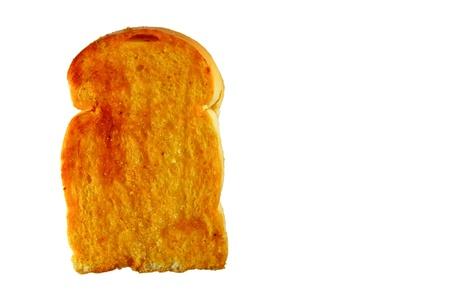 White bread toast. Isolated on white background Stock Photo