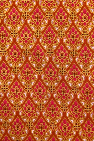 Pattern of Thailand native cloths, thai art photo
