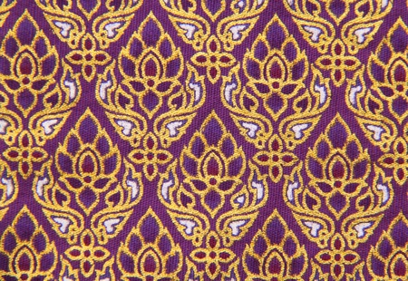 Pattern of Thailand native cloths, close up Stock Photo