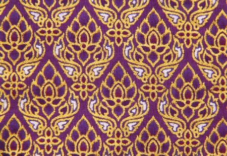 thailand fabrics: Pattern of Thailand native cloths, close up Stock Photo