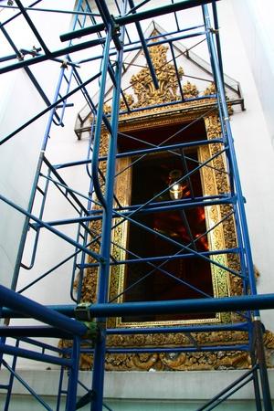 Church Repair in Temple Thailand, Wat Pho