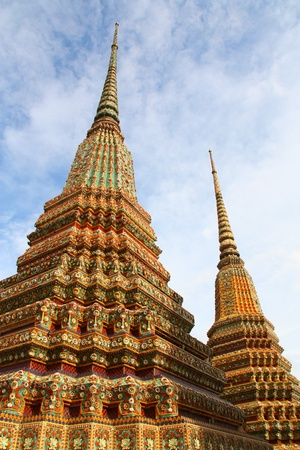 stupa at Wat pho in Bangkok, Thailand photo