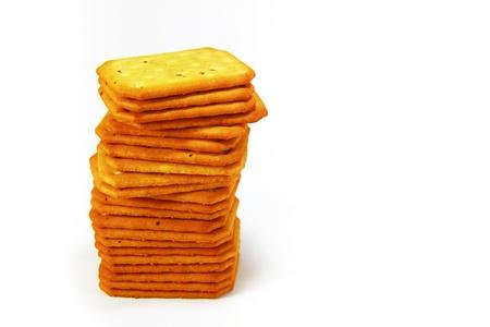 Pile of Salty Crackers, Nori seaweed Stock Photo - 10837847