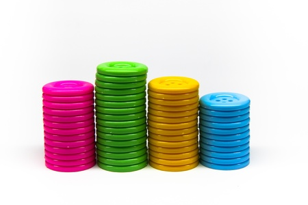 a pile of buttons of many colors Stock Photo - 10837956