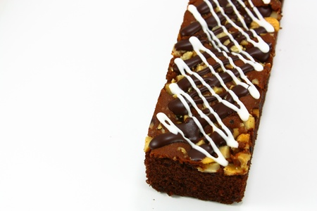 close up banana bread on a white background Stock Photo