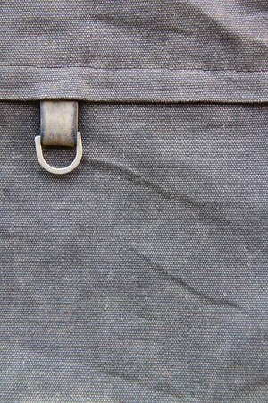 Close up of a old gray bag photo