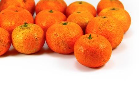 full fruit of orange tangerine, Close-up, Studio photography Stock Photo