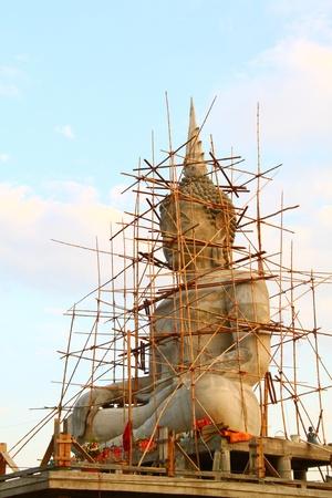 buddha statue is under construction Stock Photo