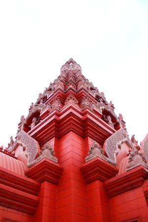 prayer tower: Ancient buddhist temple in surin ,thailand