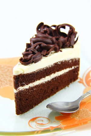 three types of chocolate cake photo