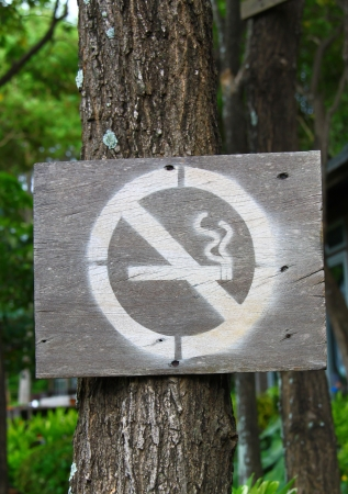 No smoking sign in park photo