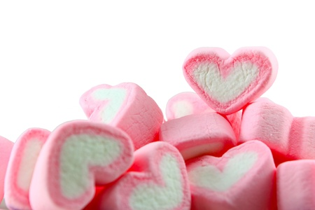 Pink and White Marshmallow background photo