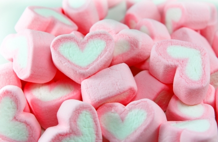 marshmallow: Pink and White Marshmallow background Stock Photo