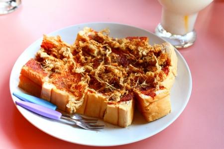 Toast shredded pork and chili paste style Thailand Stock Photo - 18141817