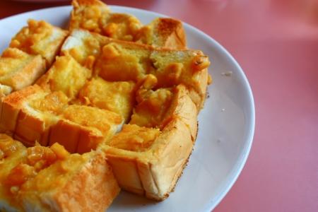 Tost tereyağı ve mısır Stok Fotoğraf - 18153804