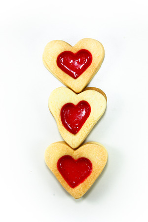 Strawberry Heart biscuit