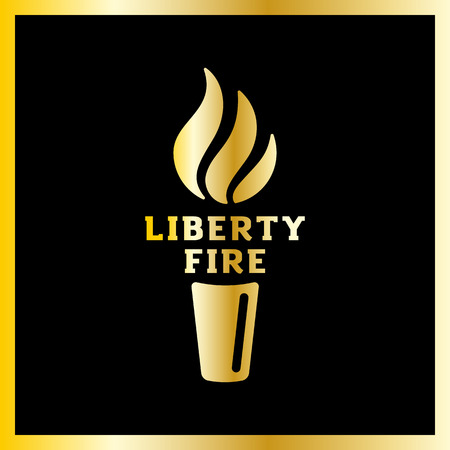 glow stick: Vector torch icon. Hot flame, power flaming, glow triumph illustration. Liberty fire Illustration