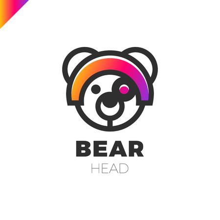 antena: Space Robot Bear logo. Toy store lgotype