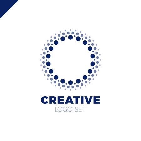 Intelligent et créatif, logo avec des points ou une lettre O. Logotype Smart et Idée Banque d'images - 77886744