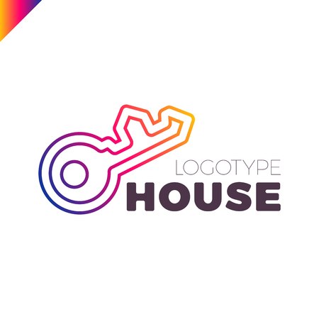 house key outline. Home Security Key House Logo Outline Design T