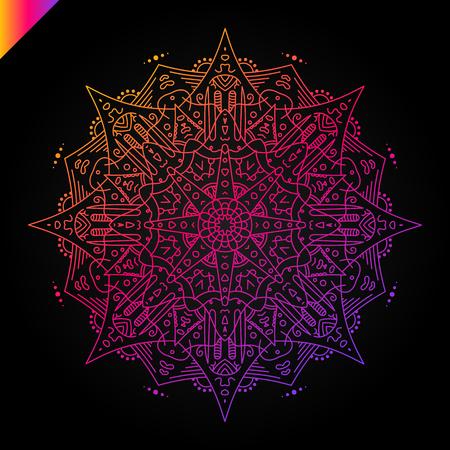 Mandala. Vintage decorative elements. Hand drawn background. Islam, Arabic, Indian, ottoman motifs.