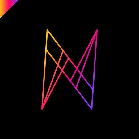 Simple Arrow Letter N logo or sign