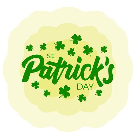 st  patrick's day: Lettering Happy St. Patricks Day. Vector illustration.