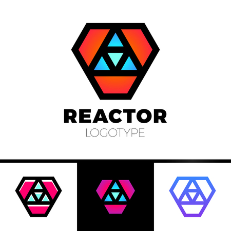 irradiation: Triangle logotype or Trinity Arrow Reactor Logo. Illustration