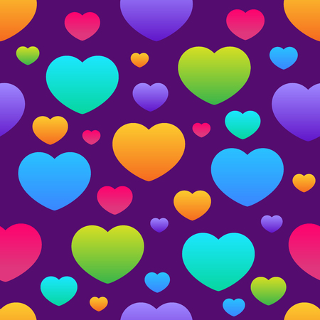 Fun seamless vintage love heart background in pretty colors. Great for baby announcement, Valentines Day, Mothers Day, Easter, wedding, scrapbook, gift wrapping paper, textiles