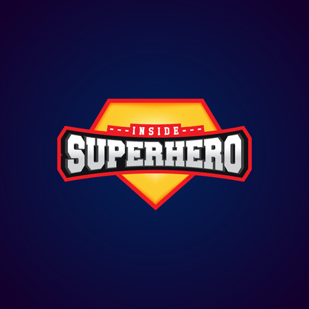 Super hero power full typography, t-shirt graphics, vectors 免版税图像 - 80395793