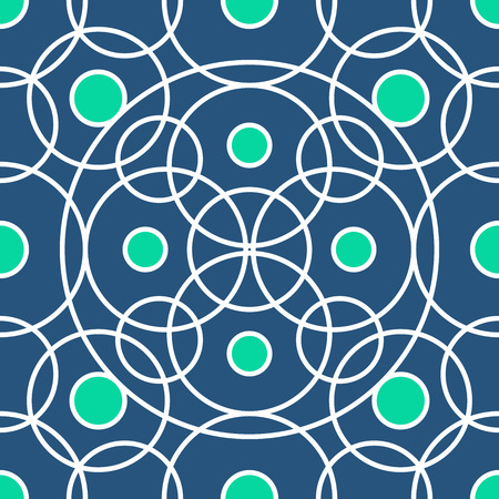 grid: Circle pattern including seamless sample in swatch panel