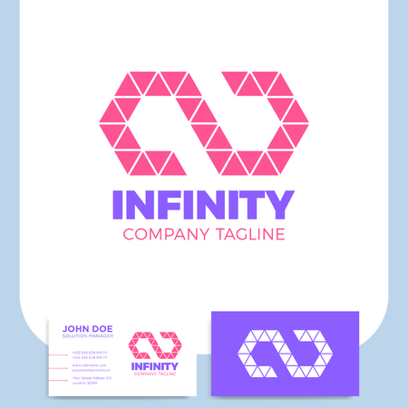 Infinity symbol icon design template