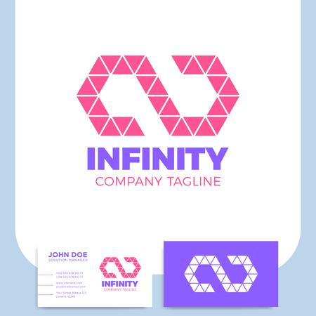 Infinity symbol icon design template