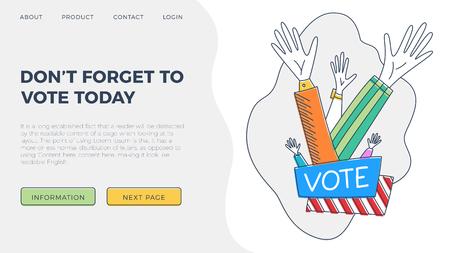 Set of hand draw hands. Voting concept illustration. Illustration