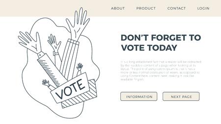 Set of hand draw hands. Voting concept illustration.