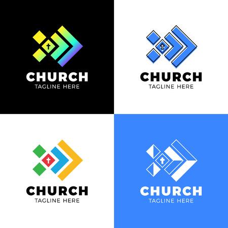 Vorlage christliches Logo, Emblem für Schule, Hochschule, Seminar, Kirche, Organisation.