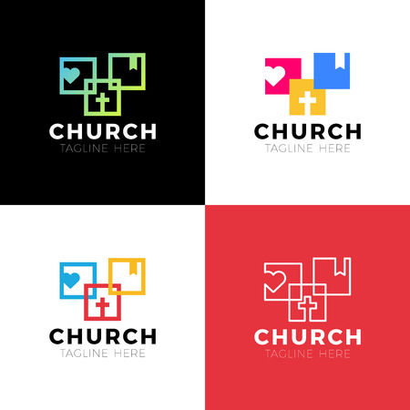 Template christian logo, emblem for school, college, seminary, church, organization. Archivio Fotografico - 126057721