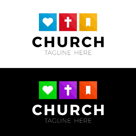Template christian logo, emblem for school, college, seminary, church, organization.