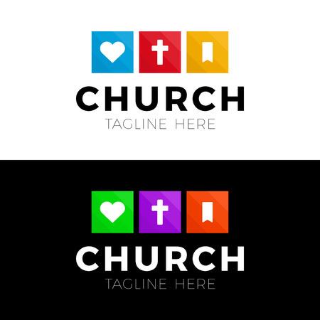 Vorlage christliches Logo, Emblem für Schule, Hochschule, Seminar, Kirche, Organisation. Logo