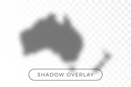 australia World map shadow realistic grey decorative background vector illustration. Transparent shadow overlay effects for branding. Planet map shadows for natural light effects. Shadow and light Иллюстрация