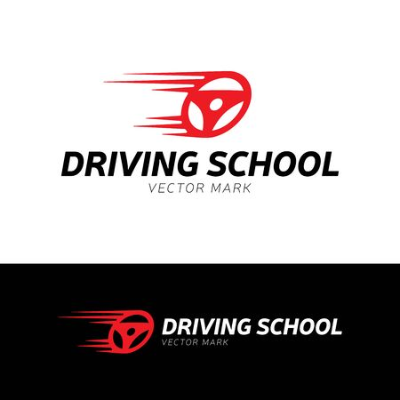 Driving school . car wheel with road sign  design. Training, vehicle, transport and transportation, vector design and illustration Stock Illustratie
