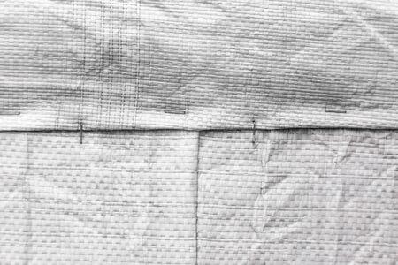 Jute Bag Or Burlap Horizontal Background Texture. Close-up. Foto de archivo