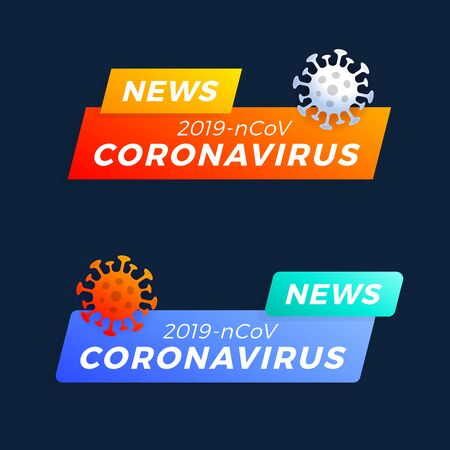 Set Breaking news headline COVID-19 or Coronavirus.