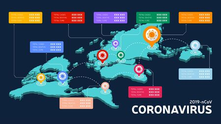 Covid-19, Covid 19 isometric world map confirmed cases, cure, deaths report worldwide globally. Coronavirus disease 2019 situation update worldwide. Maps show situation and stats background
