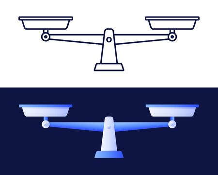 Scales icon. Libra isolated on white background. Vector stock illustration. Vektorové ilustrace