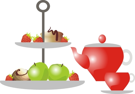 Tea-time set Vector