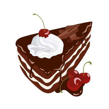 Schokoladenkuchen mit Kirschen Standard-Bild - 31816070