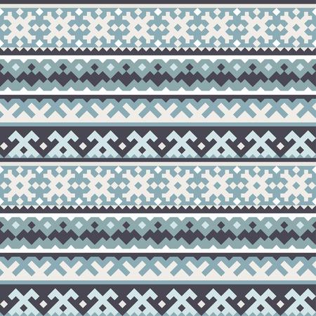 тундра: Традиционный северный геометрический орнамент - бесшовные модели