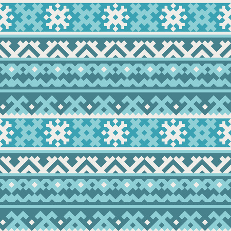 tundra: Traditional northern geometrical ornament - seamless pattern