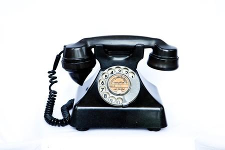 antique telephone: Antique telephone Stock Photo